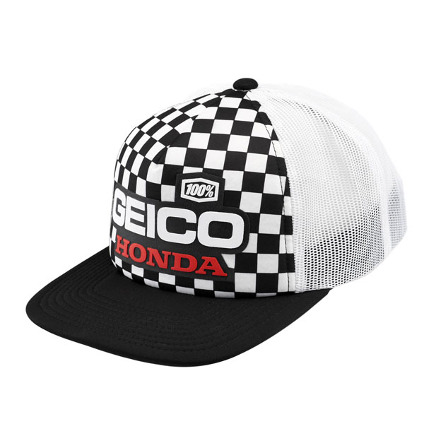 100% - Indy Geico Honda Trucker Hat
